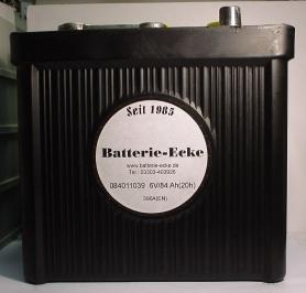 Oldtimer Starterbatterie 6V/84 Ah